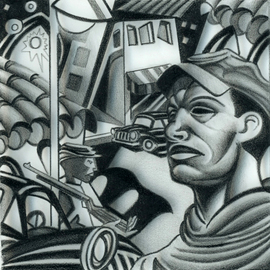 Geo Sipp Artwork The Soldier, 2010 Other Drawing, Military