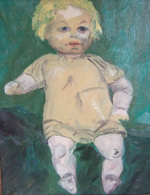 Betty Bishop  'Yellow Doll', created in 2009, Original Painting Oil.