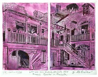 Jerry  Di Falco Artwork 620 and 621 Gov Nichols Street in Magenta, 2016 Intaglio, Architecture