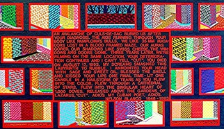 Jerry  Di Falco Artwork 'AIDS Poem for Cuban Poet, Nelson Blanco DETAIL OF POEM', 1995. Other Painting. Healing. Artist Description: Price does not include shipment. This work was inspired by the death of a friend to AIDS. Poem is stenciled onto canves.......