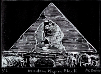 Jerry Di Falco Artwork ATLANTEAN MAP IN BLACK, 2012 Intaglio, Architecture