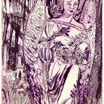 Angel Tomb in Violet By Jerry  Di Falco