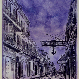 Antoines in Violet New Orleans By Jerry  Di Falco