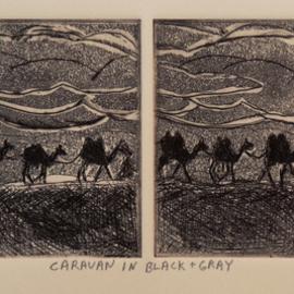 CARAVAN IN BLACK AND GRAY