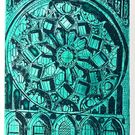 CHARTRES WINDOW IN EMERALD LIGHT AT NORTH