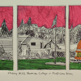 CHERRY HILLS HAWAIIAN COTTAGE IN PINK AND LIME GREEN