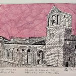 Church In Lama dei Peligni Abruzzo with Cherry Sky By Jerry  Di Falco