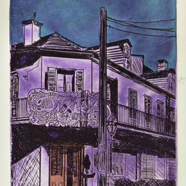 DIXIES BAR IN NEW ORLEANS BLUE 1941 By Jerry  Di Falco