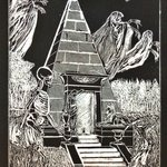 GRAVE AND SPIRITS IN NEW ORLEANS AT BRUNSWIG TOMB By Jerry  Di Falco
