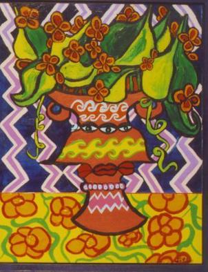 Artist: Jerry Gerard Di Falco - Title: Gnostic Vase of the Third Eye - Medium: Acrylic Painting - Year: 2006
