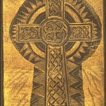 Gold Keyhole and Celtic Cross By Jerry  Di Falco