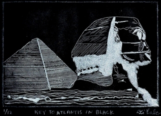 Jerry Di Falco Artwork KEY TO ATLANTIS IN BLACK, 2012 Intaglio, Architecture