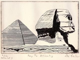 Jerry Gerard Di Falco Artwork Key To Atlantis, 2012 Intaglio, Magical