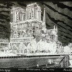 NOTRE DAME IN PARIS 1890   nuit By Jerry  Di Falco