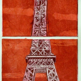 PARIS IN MAGENTA  By Jerry  Di Falco