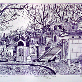 PERE LACHAISE IN PARIS   By Jerry  Di Falco