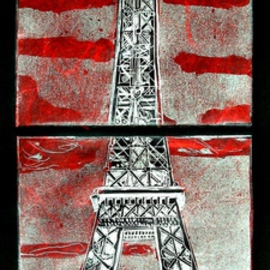 Paris in Black and Red