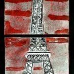 Paris in Black and Red By Jerry  Di Falco
