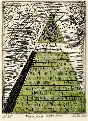 Jerry  Di Falco Artwork Pyramid Scheme, 2011 Etching, Americana