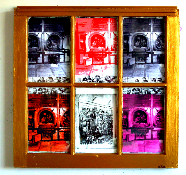 Jerry  Di Falco  'REMEMBRANCE WINDOW TO THE HOLOCAUST ', created in 2010, Original Watercolor.