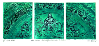 Jerry  Di Falco Artwork Relief  Philadelphia Episcopal Cathedral, 2016 Etching, Christian