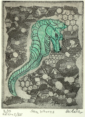Jerry Gerard Di Falco Artwork SEA HORSE, 2011 Etching, Animals
