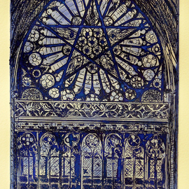 THE ANGELIC HEIRACHY WINDOW IN ROUEN AT THE EGLISE SAINT OVEN