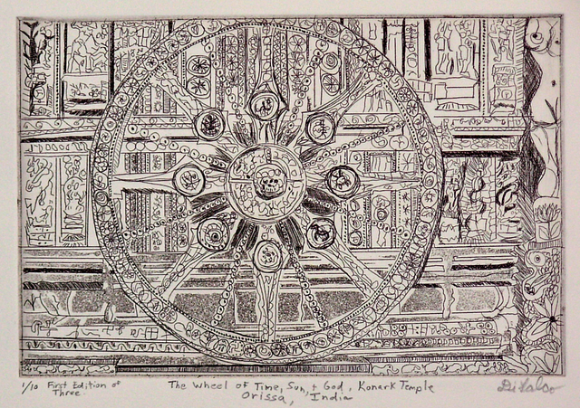 Jerry  Di Falco THE WHEEL OF TIME SUN AND GOD AT KONARK TEMPLE IN ORISSA INDIA 2010
