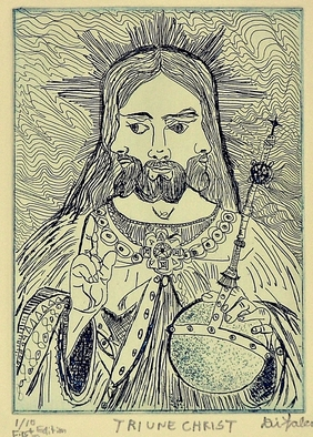 Jerry Di Falco Artwork TRIUNE CHRIST, 2010 Intaglio, Mystical