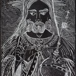 Triune Christ in Black By Jerry  Di Falco