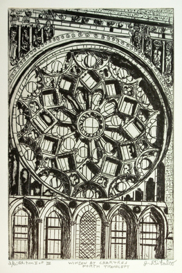 Jerry  Di Falco Artwork  Window at Chartres North Transept , 2016 Etching, Geometric