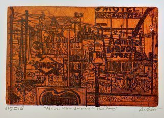Jerry  Di Falco: 'admiral wilson boulevard', 2020 Etching, Automotive. This etchingaEUR