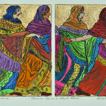 eruscan dance in stained glass By Jerry  Di Falco