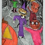 night of pumpkin ghosts By Jerry  Di Falco