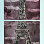 paris in violet By Jerry  Di Falco