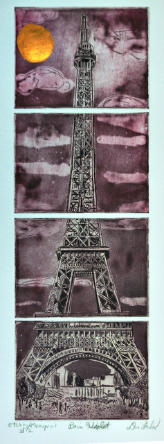 Jerry  Di Falco  'Paris In Violet', created in 2020, Original Digital Art.