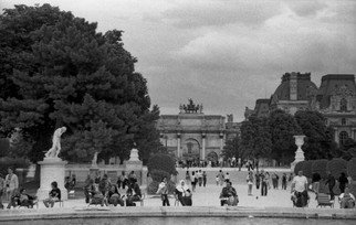 German Guerra: 'OPUSPR0284', 2012 Black and White Photograph, Cityscape. Artist Description:  PARIS CITY ...