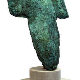Gerry Griffin Artwork Celtic Image, 2010 Bronze Sculpture, Abstract