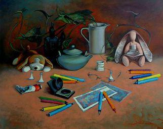 Artist: Ghenadie Sontu - Title: Short Studio Stories - Medium: Oil Painting - Year: 2014