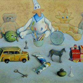 Ghenadie Sontu: 'The Childhood Story', 2013 Oil Painting, Still Life. Artist Description:    The Childhood Story - still life, oil painting by Ghenadie Sontu       ...