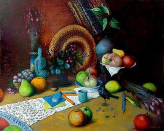 Artist: Ghenadie Sontu - Title:  The Story of Grandfather - Medium: Oil Painting - Year: 2014