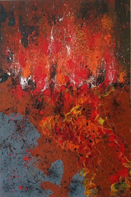 rita ghise artwork lava original painting acrylic abstract art