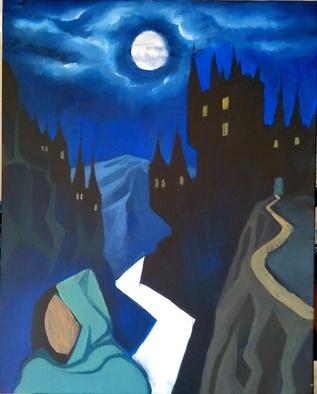 George Grim Artwork Escape from Draculas castle, 2015 Escape from Draculas castle, Figurative
