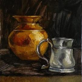 Copper Pot And Silver Mug, George Grant