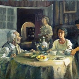 evening dinner By George Grant