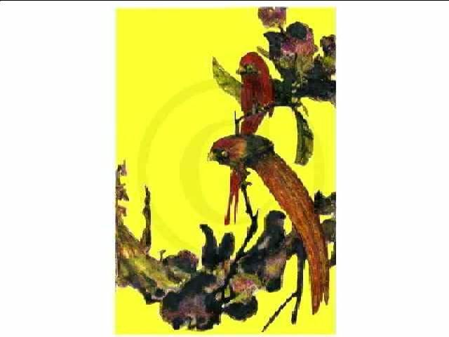 James Gibney  'Hong Kong China  2002 Birds Yellow1 On Canvas', created in 2002, Original Printmaking Other.