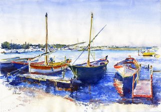 Artist: Gilles Durand - Title: Le Grau du Roi Camargue - Medium: Watercolor - Year: 2008