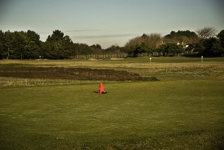 Ginger Liu: 'The Village', 2011 Color Photograph, People.   The Village is a block of retail in Formby surrounded by Natural Trust forests and beach, golf, RAF flying school and stables.  ...