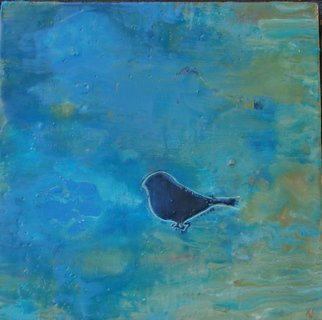 Ginny Krueger: 'Lone Bird II', 2011 Encaustic Painting, Abstract Landscape. Artist Description:  Encaustic on Panel; Steel Angle Iron Frame Included        ...
