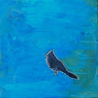 Ginny Krueger Artwork Lone Bird IV, 2011 Encaustic Painting, Abstract Landscape